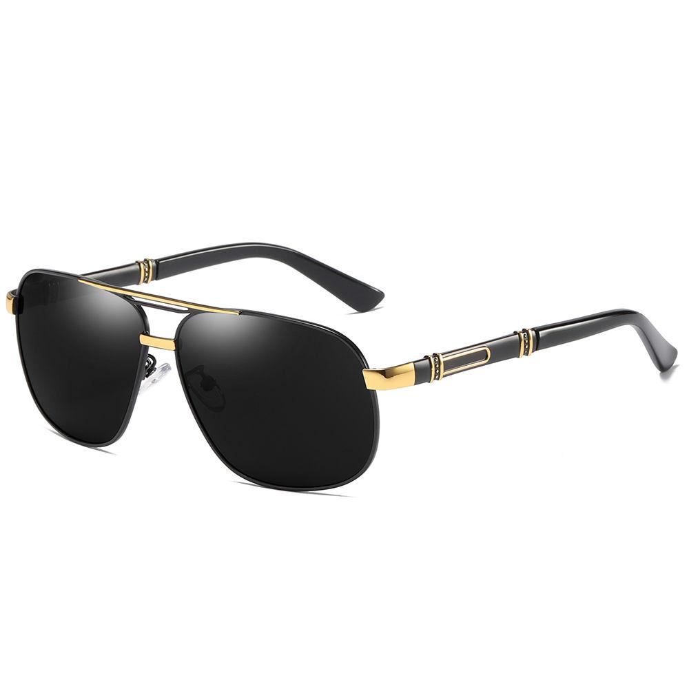 EUGENIA Fashion polarizes metal frame sun glasses Retro Round Pilot Driving Eyewear