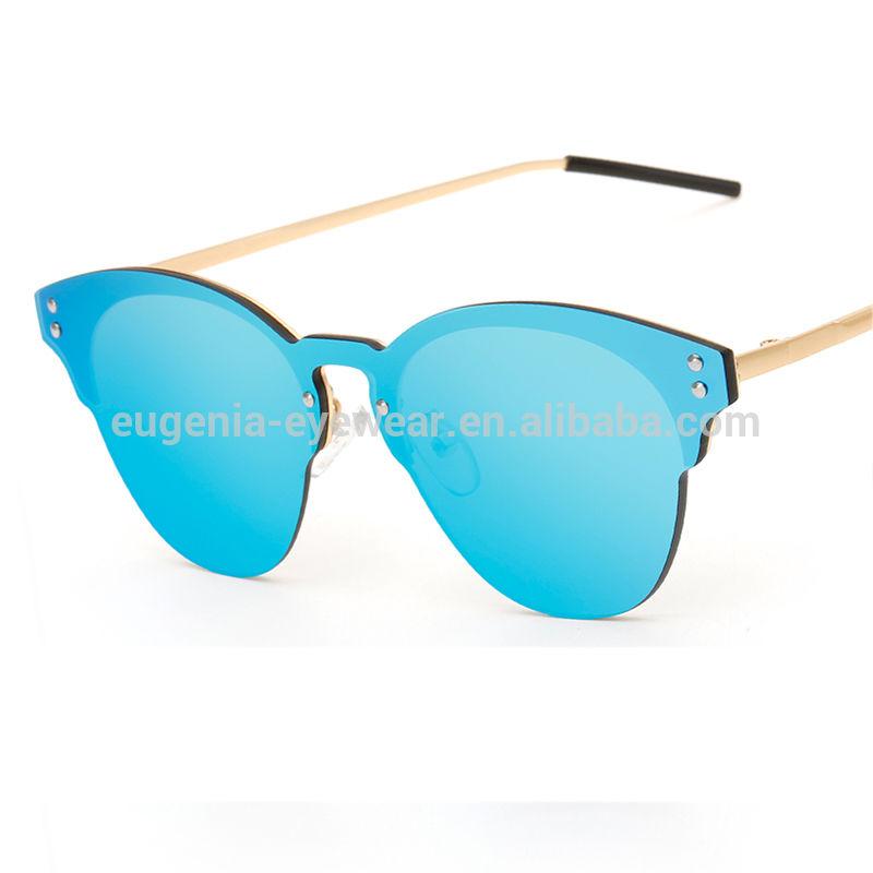 20208 metal frame fashion women sunglasses mirror sun glasses
