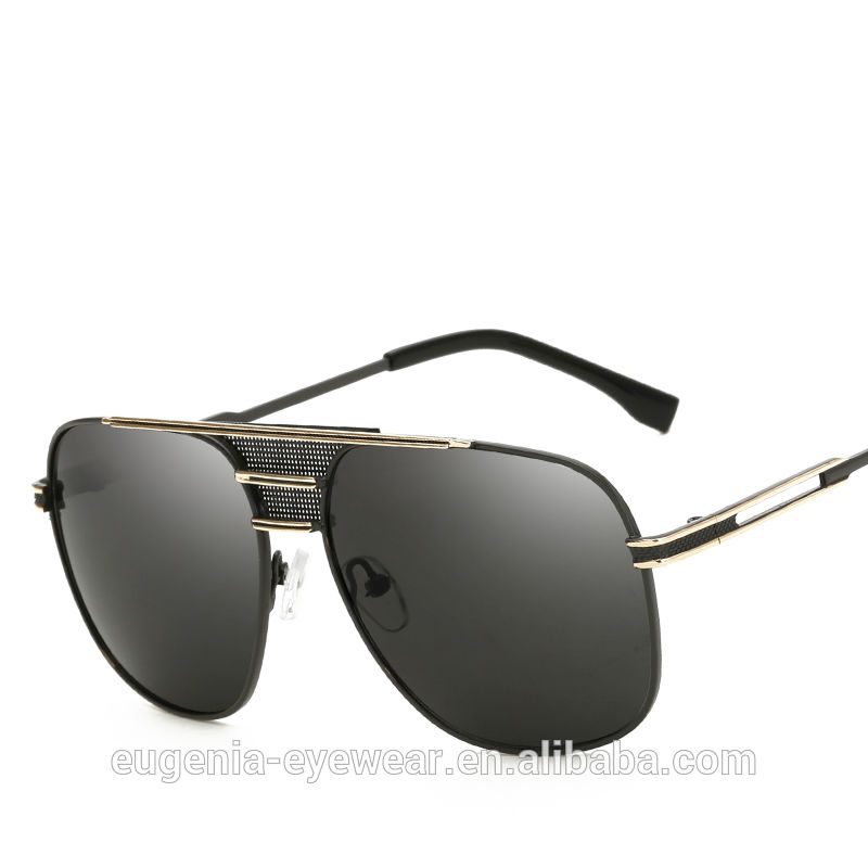 EUGENIA Photochromic lenses polarized sunglasses metal high end mirror sunglasses for man