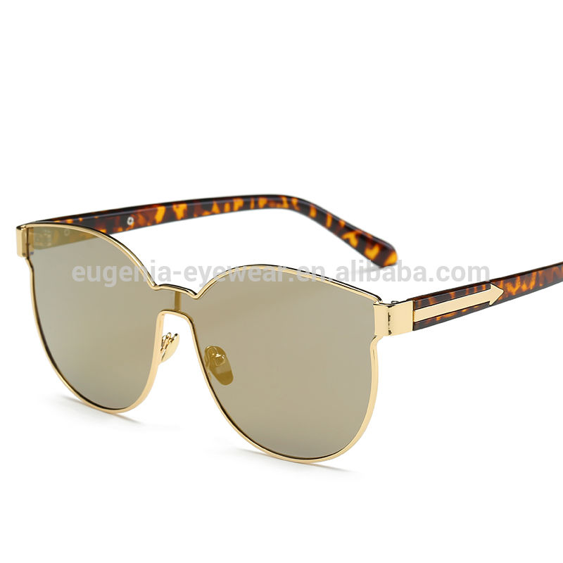 EUGENIA Wholesale custom logo top quality square metal frame new alloy sunglasses 2020