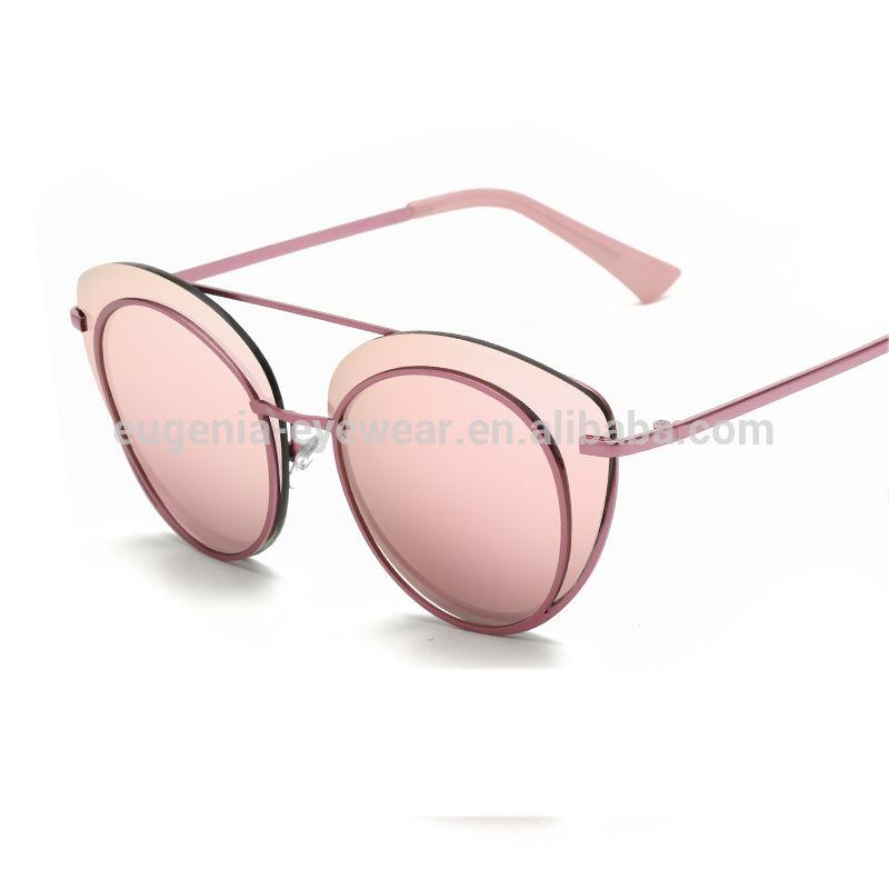 EUGENIA 2019 2020 fashion custom most popular metal men round sunglasses oversized sun visor