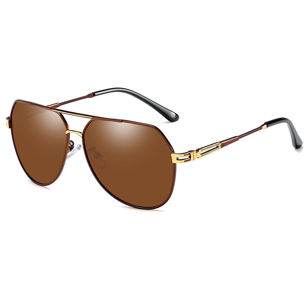 EUGENIA custom men gafas designer blue mirror PC lens metal sunglasses 2020