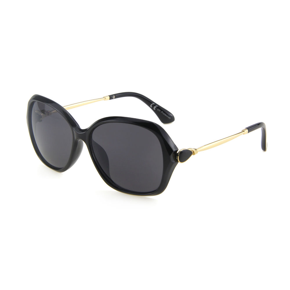 EUGENIA retro gold large oversize women metal big frame CE UV400 protection sunglasses