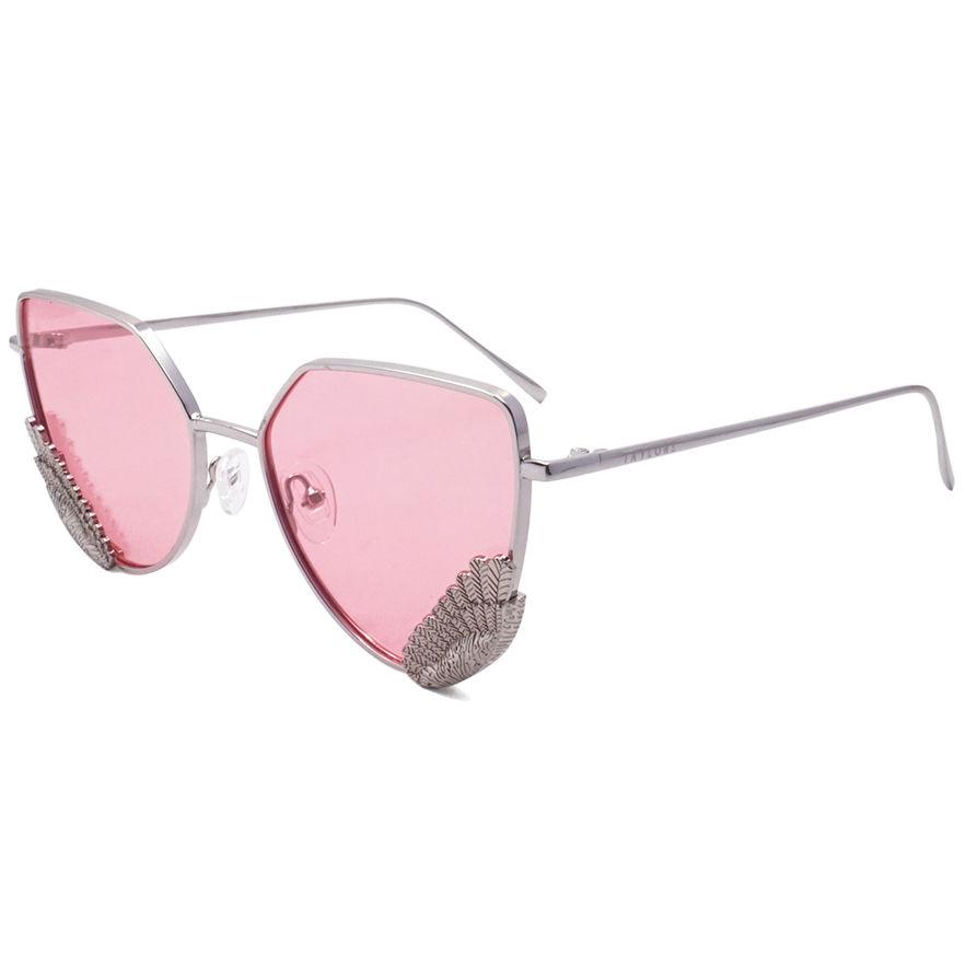 EUGENIA custom logo woman fashion sun glasses luxury metal design polarized sunglasses UV