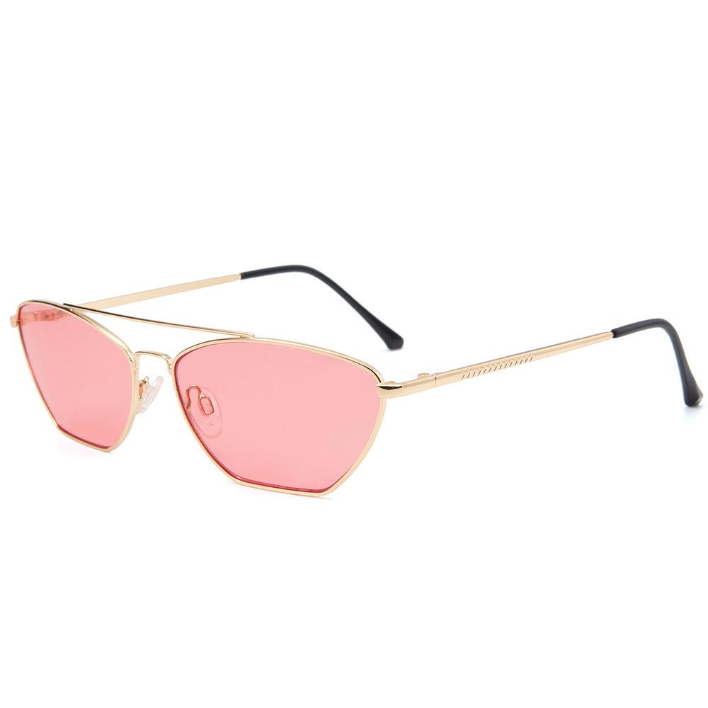 EUGENIA 2020 Classic Retro Steampunk Women GlassesMetal Frame Clear Lens Tinted Sun Sunglasses