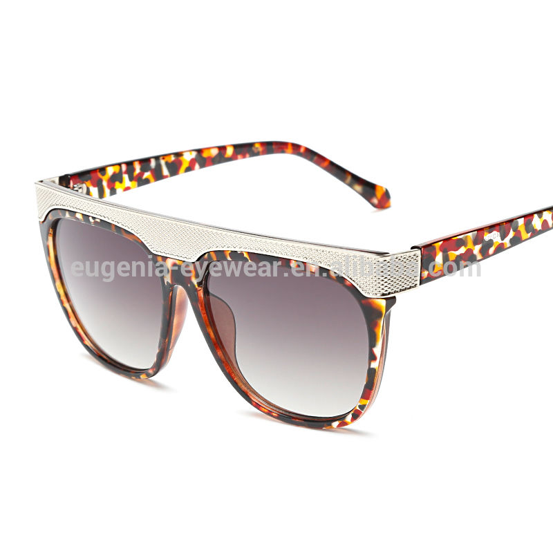 EUGENIA factory fashionable made in china sunglasses metal-frame square oversize oculos