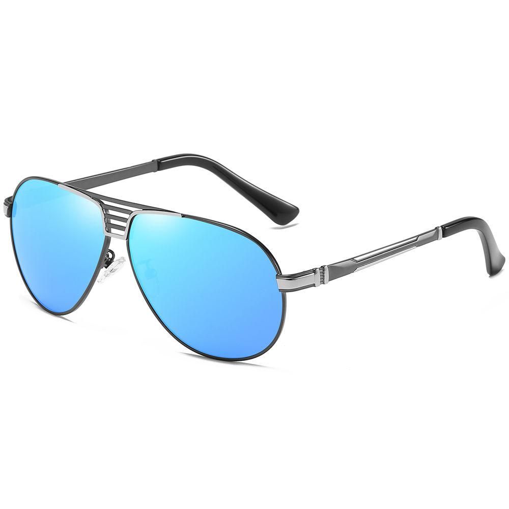 EUGENIAMen Sunglasses Luxury Polarized Metal Aviation Sunglasses