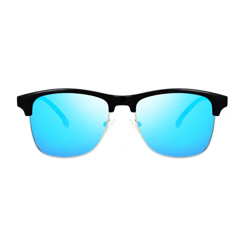 EUGENIA Hot sale gift custom brand logo half rimless frame sunglasses