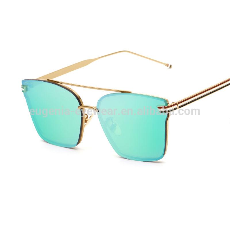 EUGENIA high fashion cool Sun glasses design colorful mirrored metal designer sunglasses for men