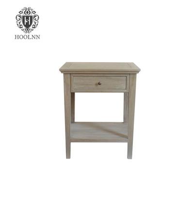 French Costal Style Ashiya Oak Wood Side Table HL292-105