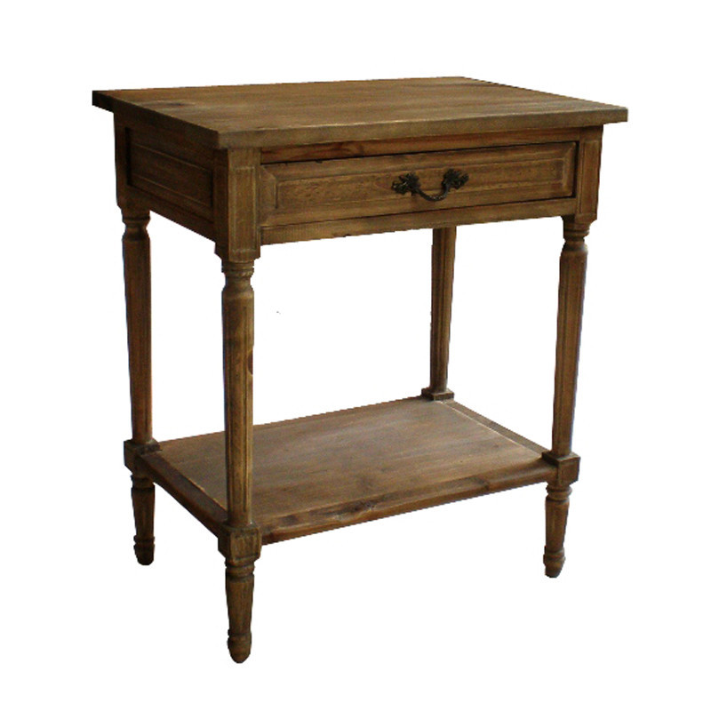 French Country Style Fiona Oak BedsideTable HL304