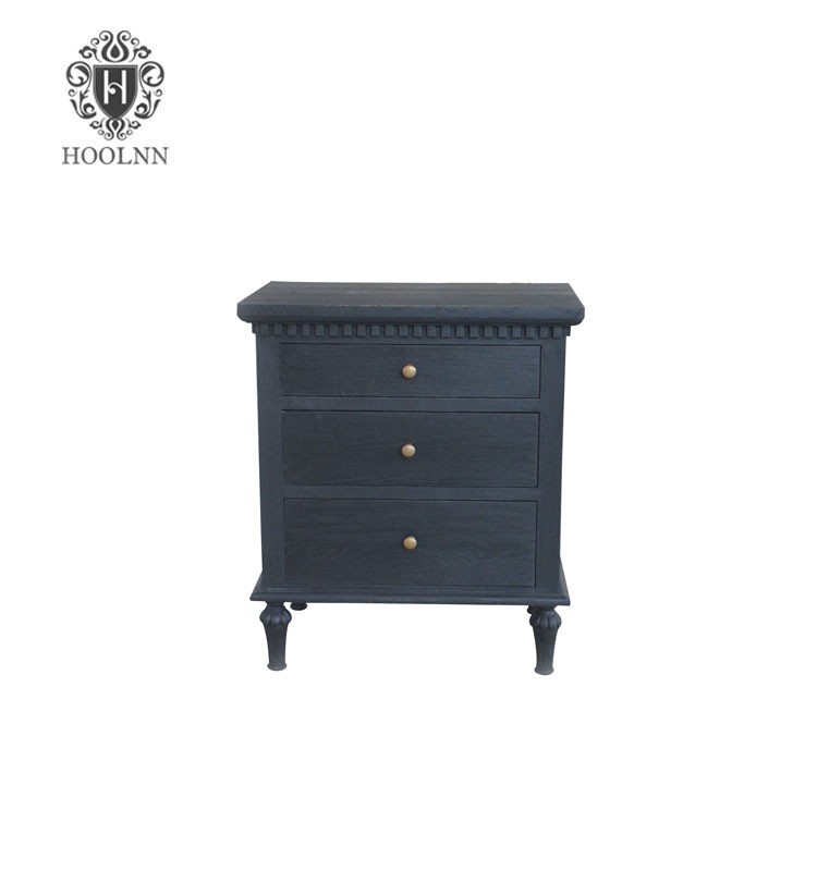 French style Antique Wooden Carved Nightstand HL128