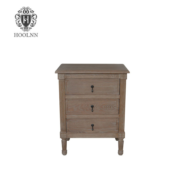 Antique French style Wooden Closed Bedside Table HL132-60-103