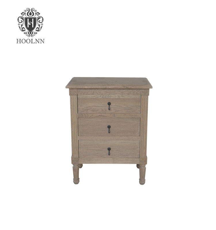 French Style Antique Flinders Wooden Bedside Table HL132-60