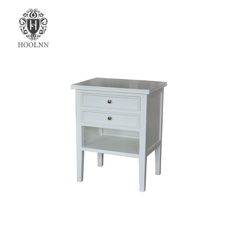 Hamptons Partrack Wooden Bedside Table HL038