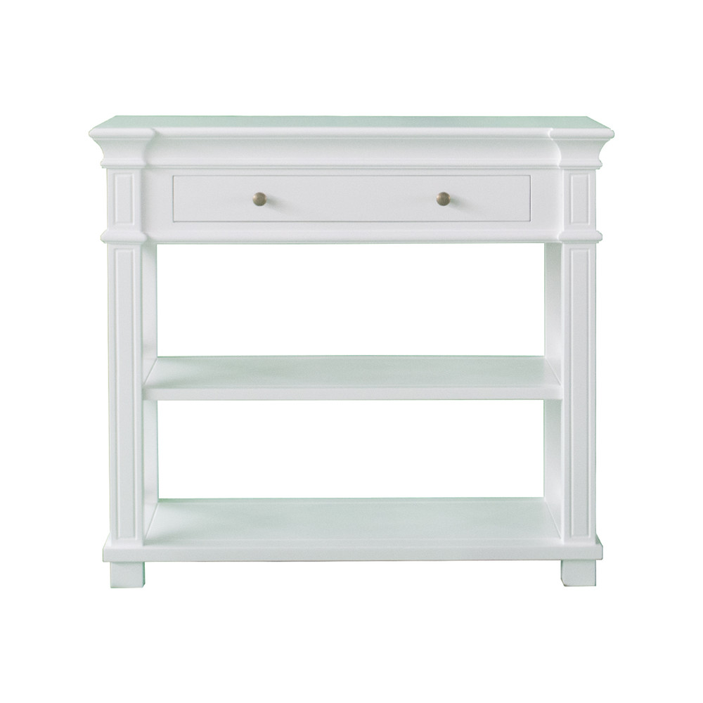 French Costal White Console Table With Drawer FH1037