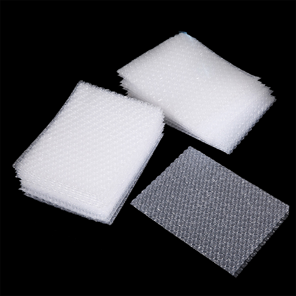 Custom clear plastic wrap pe pla air padded bubble shipping mailer bags