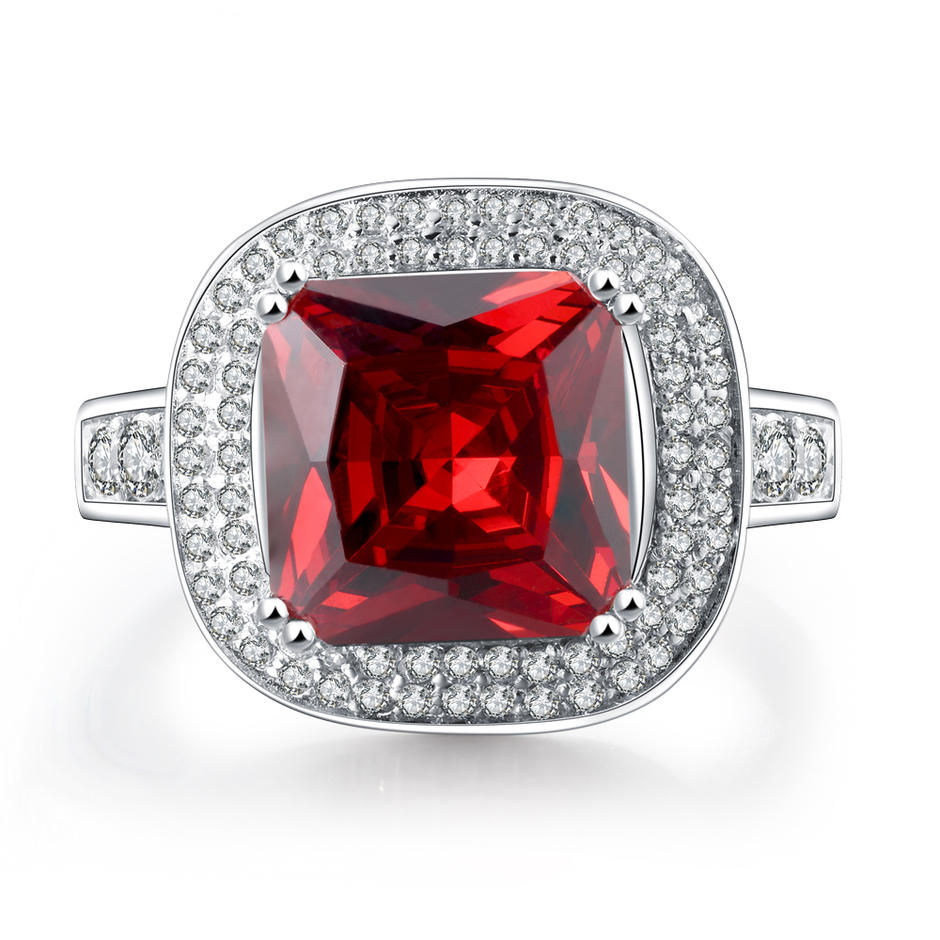 High End Cubic Zircon Silver Low Cost Engagement Rings