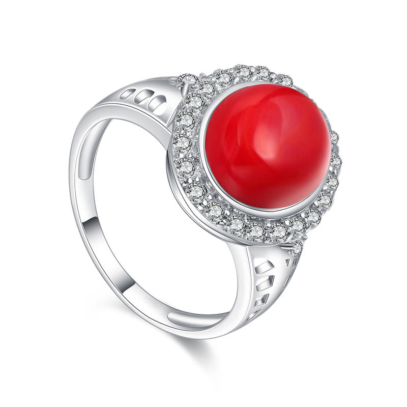 Gorgeous 925 silver ladies aaaaa cz jewelry ring