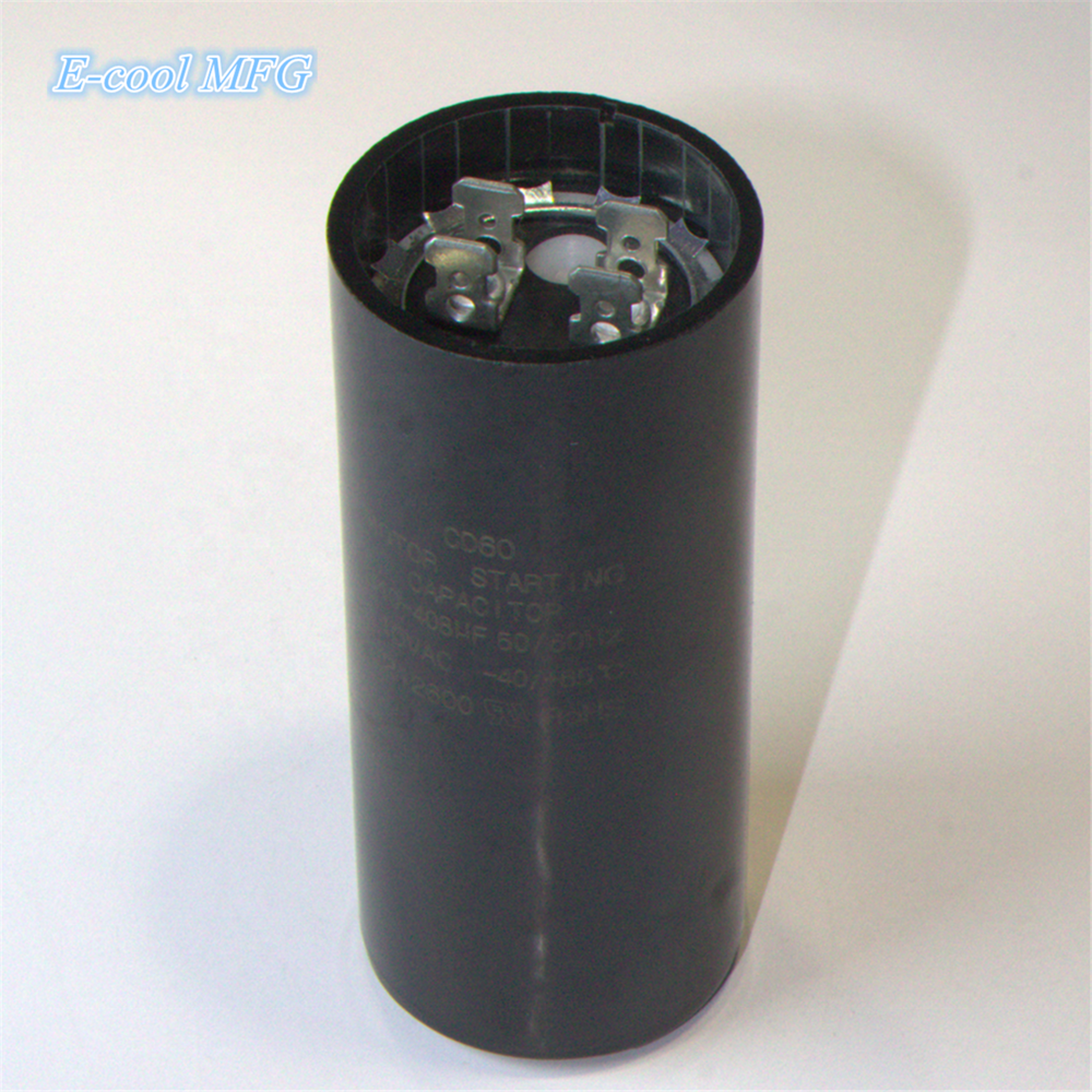 CD60 Black Cover Aluminum Electrolytic Capacitor