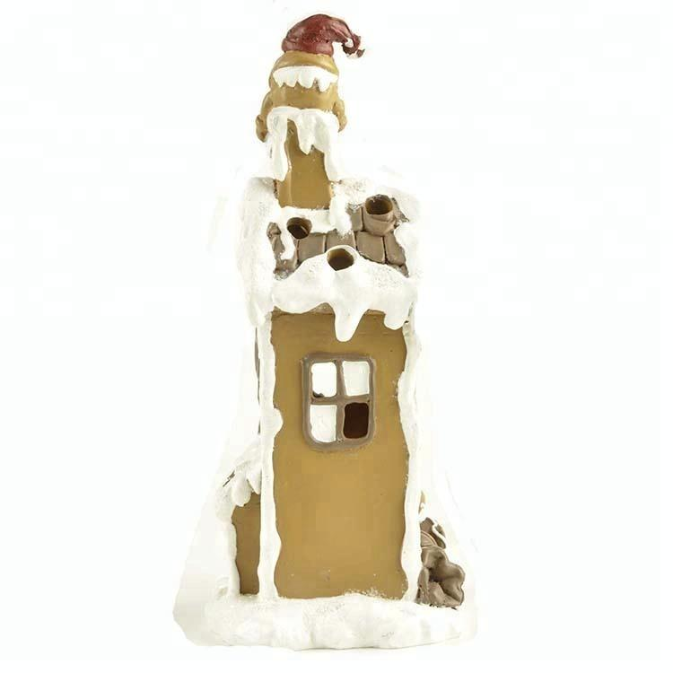 New design resin gingerbread house with LED light