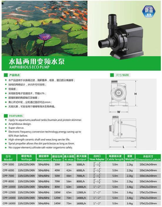Amphibous Eco Pump (CPP-5000) with Ce Approved