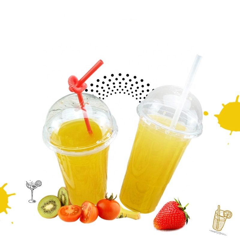 100% biodegradable cups PLA cups plant basedcompostable cups for cold drinking with customized sizes logo
