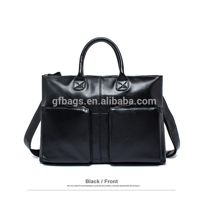 Simple Fashion Genuine Leather LaptopMen Briefcases CasualShoulder bags