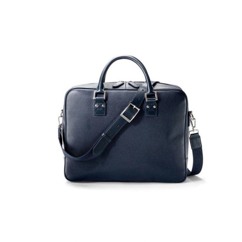 Large Black Genuine Leather Business Travel Bag Laptop Men Briefcase Portfolio Messenger Bags