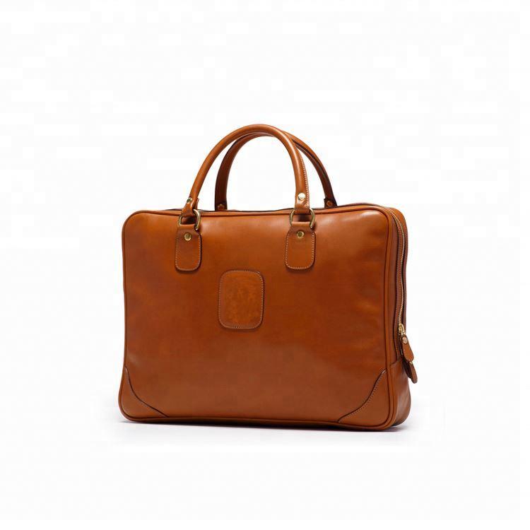 Vintage Style Men's 100% Genuine Leather Briefcase for man business Brand Designer Classic boys Laptop Bag large tote hand bag