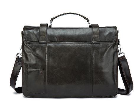 Custom Genuine LeatherBusinessLeather Briefcase Document Men Bags laptopBags