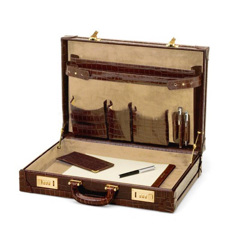 GF-X388 Python vintage Leather mens messenger Business Case