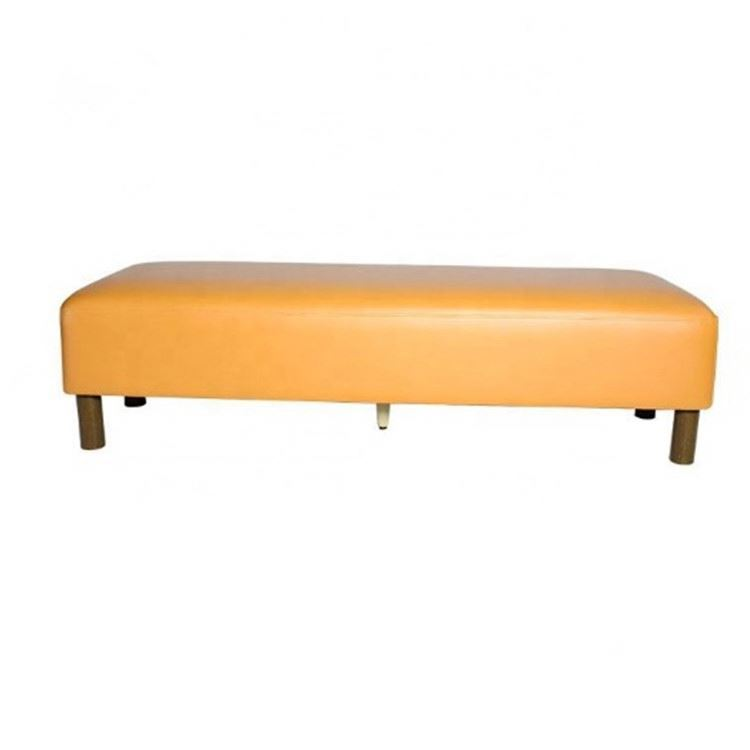 Removable PU leather seat wooden foot stool/low stool /sofa footrest