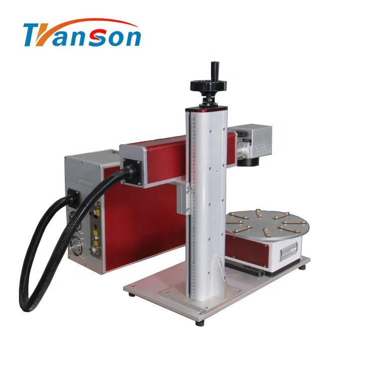 50WFiber laser Marking Machine Mini Type with Rotary Worktable