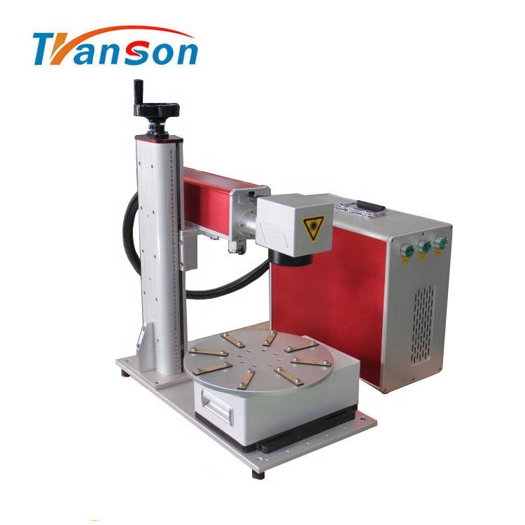 20W Fiber laser Marking Machine Mini Type with Rotary Worktable