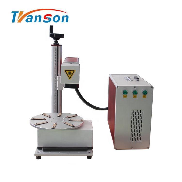 120W Round Worktable Fiber Laser Marking Machine Price