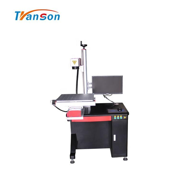 20W30W50W100W Fiber Laser Marking Machine-Round &Slide Type Factory Sale Price