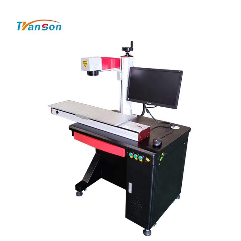 Sliding Work Table Metal Fiber Laser Marking Engraving Machine