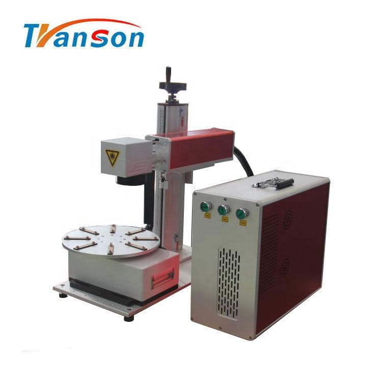 20W fiber laser marking machine for metal with rotary device from China Jinan