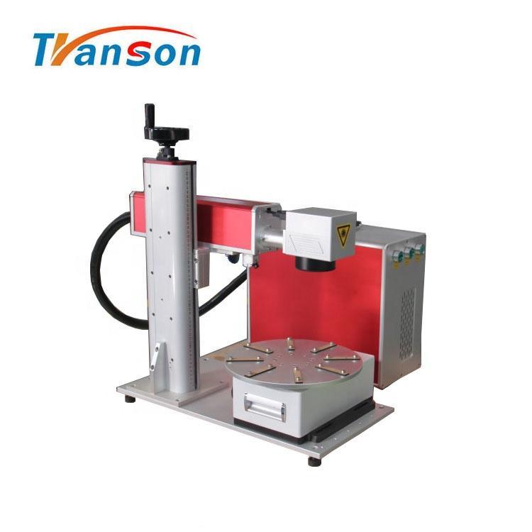 30W Mini Fiber Laser Marking Machine With Round Worktable Price