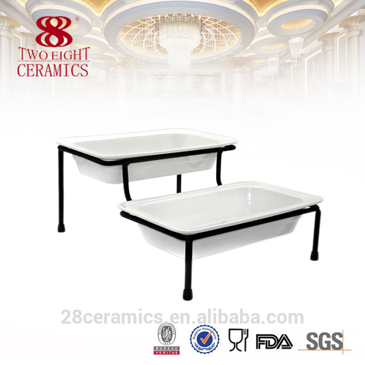 Wholesale beauty buffet dishes, cheap chafing dish, white party plates for hotel