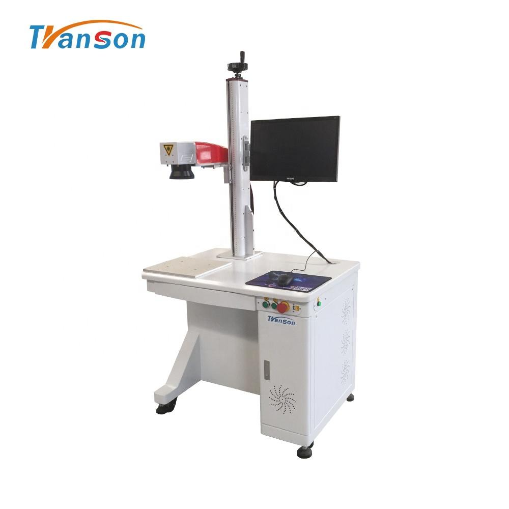 Raycus 50W Leather Marking Cutting Metal Plastic Mark 300*300mm Fiber Laser Marking Machine Jinan Transon lazer