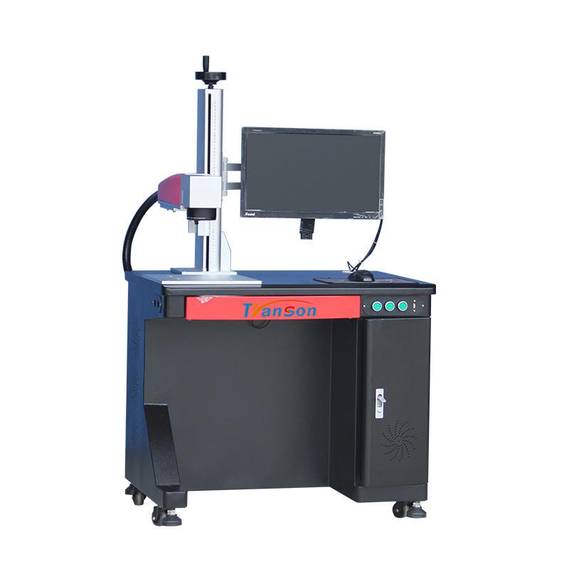 70w ABS printing logo fiber laser marking machine
