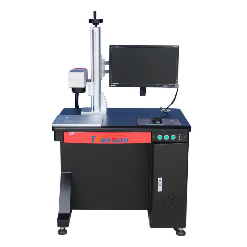 Black color desktop laser marking machine with Mopa