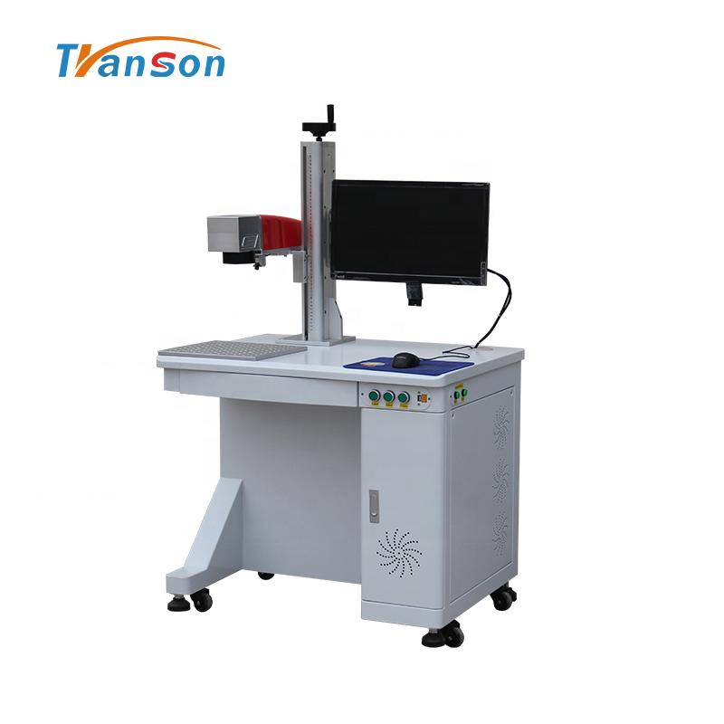 Raycus 100W Fiber Laser Marking Machine for Metal Barcode