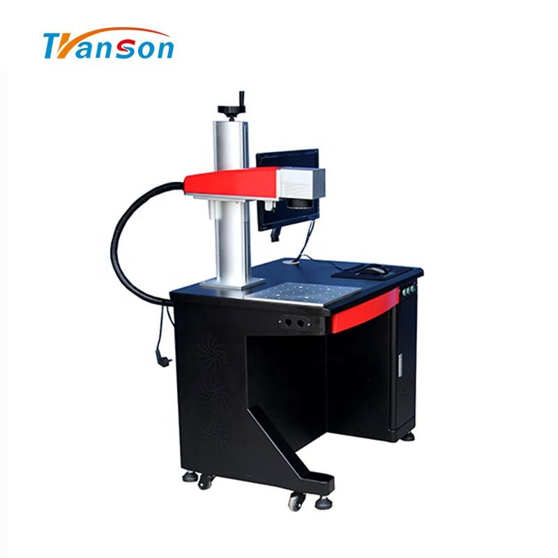 Good New Design Wood Cutter/ Printer 20W Desktop Fiber Laser Marking Machine