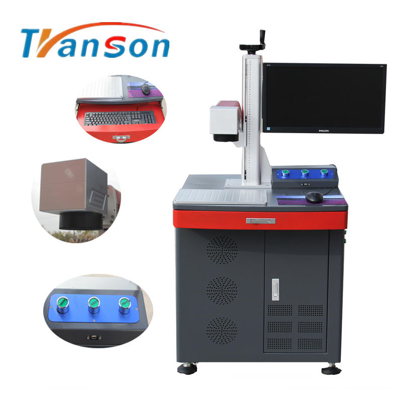 100W High Power Fiber Laser Marking Machine Desktop Type New Design