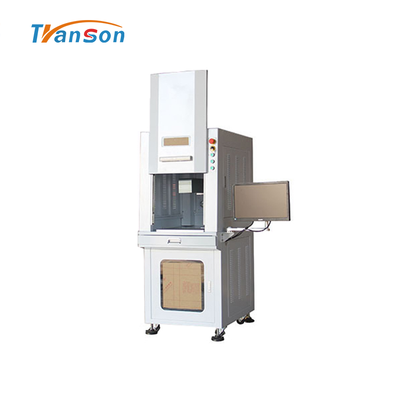 30WFiber laser Marking Machine Full-Enclosed Type for Metal Leather Plastic Stone