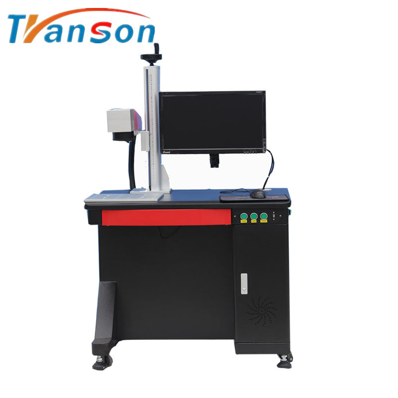 JPT M7 Series 100w High Power MOPA Fiber Laser Marking Machine Desktop Type for Colourful Mark on Steel