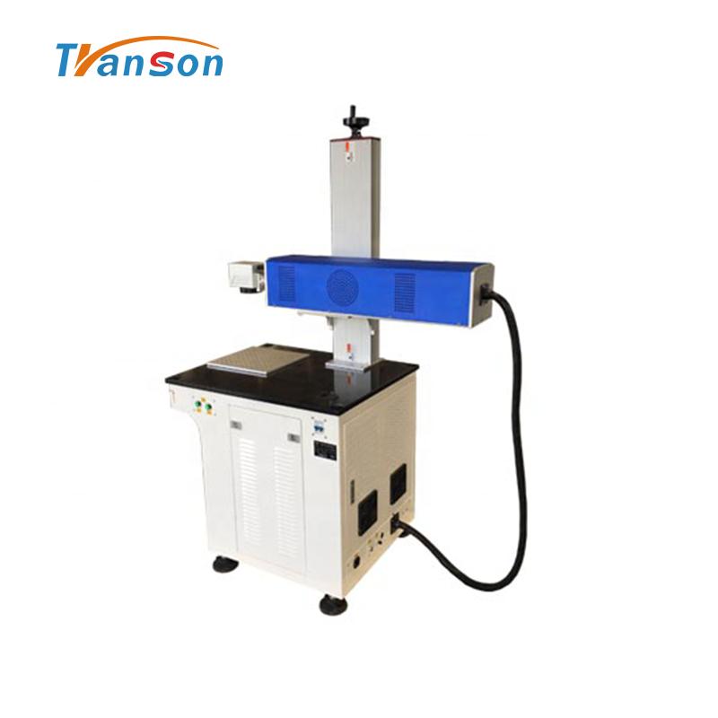 Desktop Laser Marking Machine CO2 Type Metal Tube Marking on Nonmetal